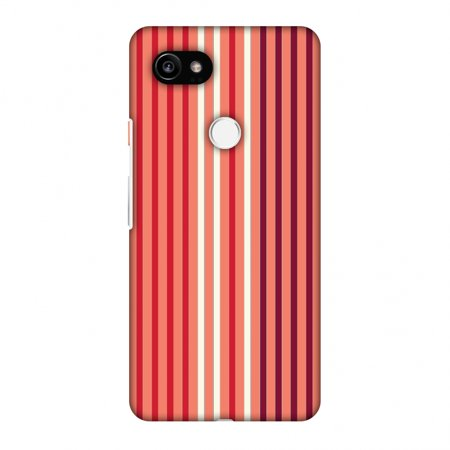 new styles 4d4ca 337c9 Google Pixel 2 XL Case - Stripes- Coral and red, Hard Plastic Back Cover,  Slim Profile Cute Printed Designer Snap on Case with Screen Cleaning Kit
