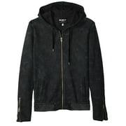 Mens Large Iggy Full Zip Hooded Knit Jacket L