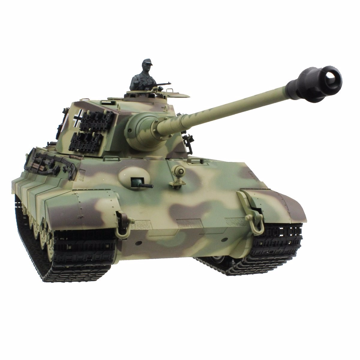 2.4Ghz Radio Control 1 16 King Tiger (Henschel Turret) Air Soft RC Battle Tank w Sound & Smoke RC RTR by