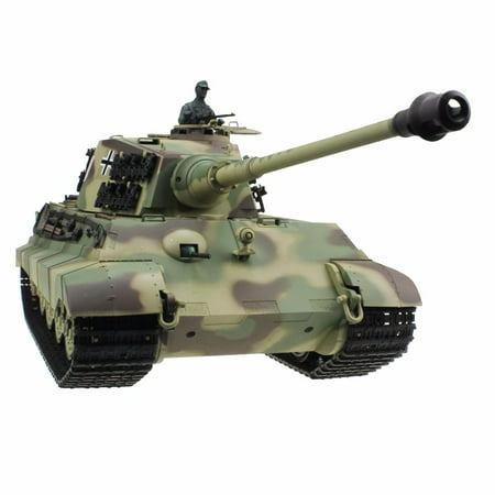 2.4Ghz Radio Control 1/16 King Tiger (Henschel Turret) Air Soft RC Battle Tank w/Sound & Smoke RC (24 Rc Battle Tank)