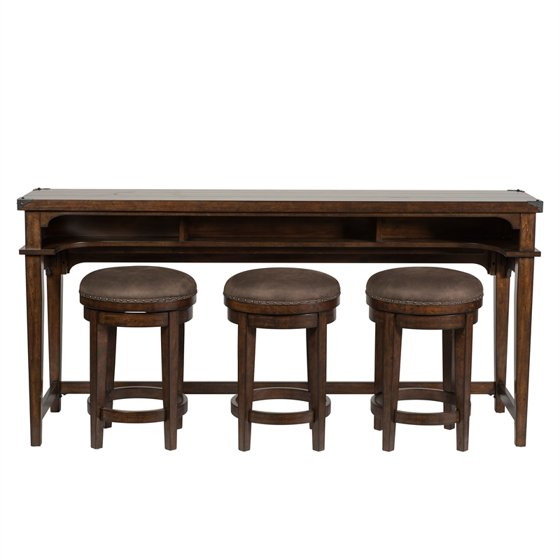 Outstanding Liberty Furniture 4 Piece Console Set 1 Console 3 Stools Gmtry Best Dining Table And Chair Ideas Images Gmtryco
