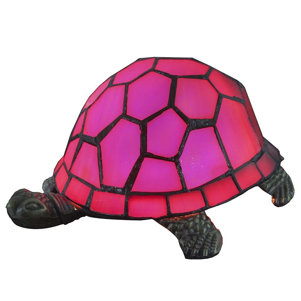 Bieye L10214 9 Inches Tortoise Tiffany Style Stained Glass Accent