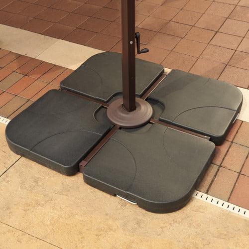 Freeport Park Augustin Resin Free-Standing Cross-Arm Umbrella Base Weights