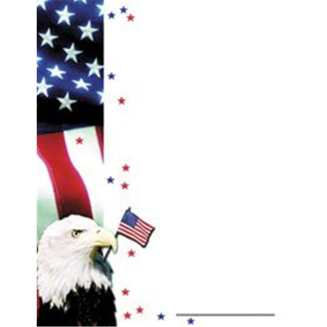 Hayes School Publishing H-VA660 Patriotic Certificate Border/Computer Paper
