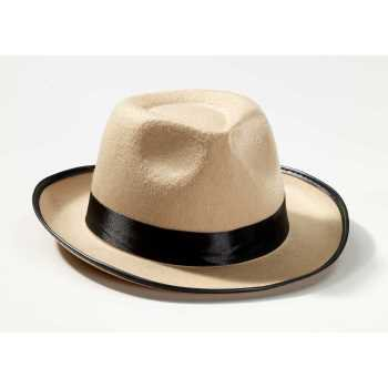 Roaring 20's Beige Adult Fedora Halloween Costume Accessory