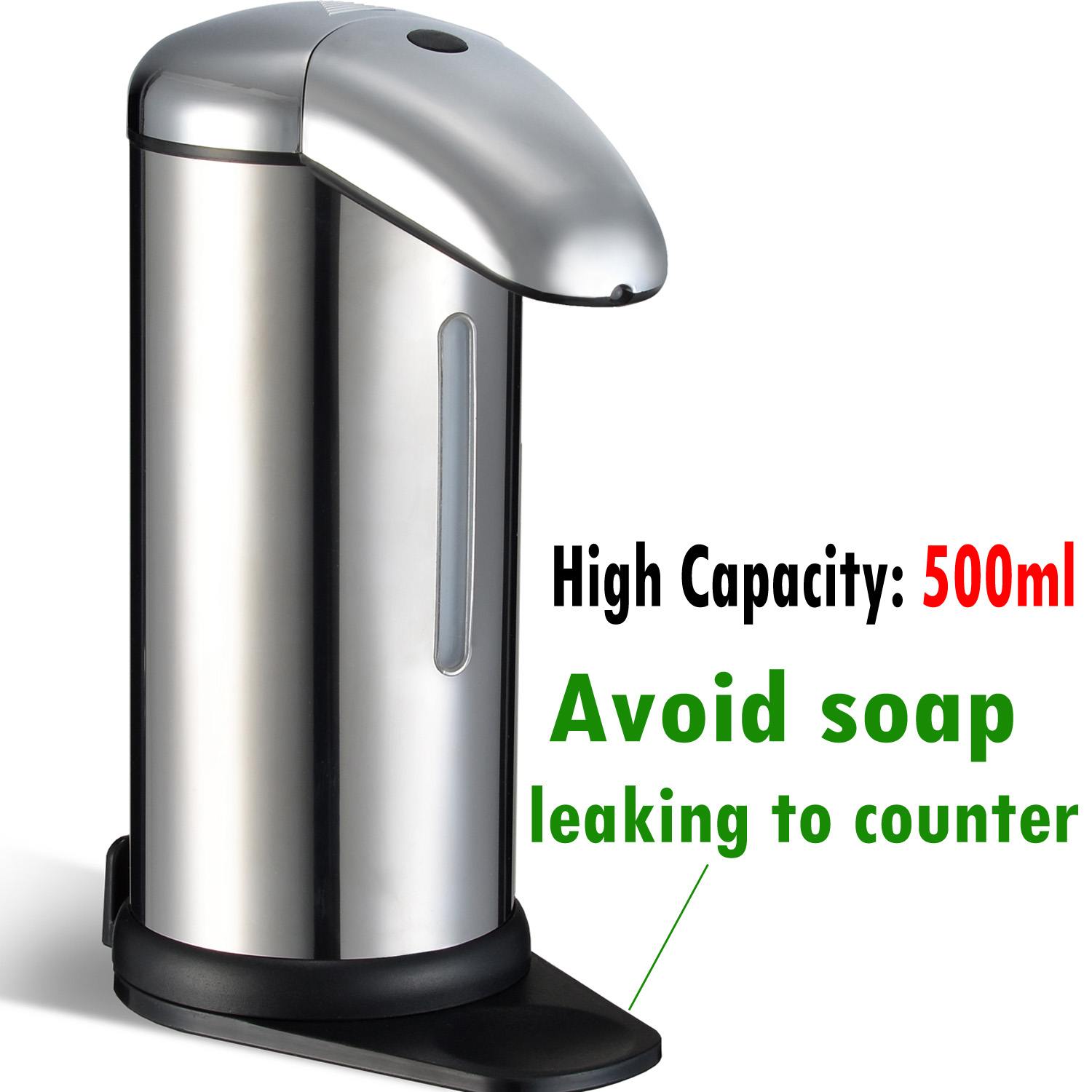High Quality 500ml Automatic Soap Dispenser No Touch Touchless Sensor Kitchen Bathroom  Liquid Soap Dispenser