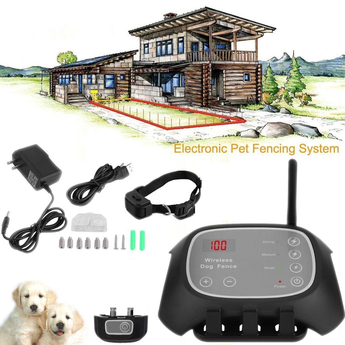 Wireless Dog Fence Dog Containment System Guardian