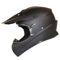 1Storm Adult Motocross Helmet BMX MX ATV Dirt Bike Downhill Mountain Bike Helmet Racing Style HKY_SC09S; Matt Black