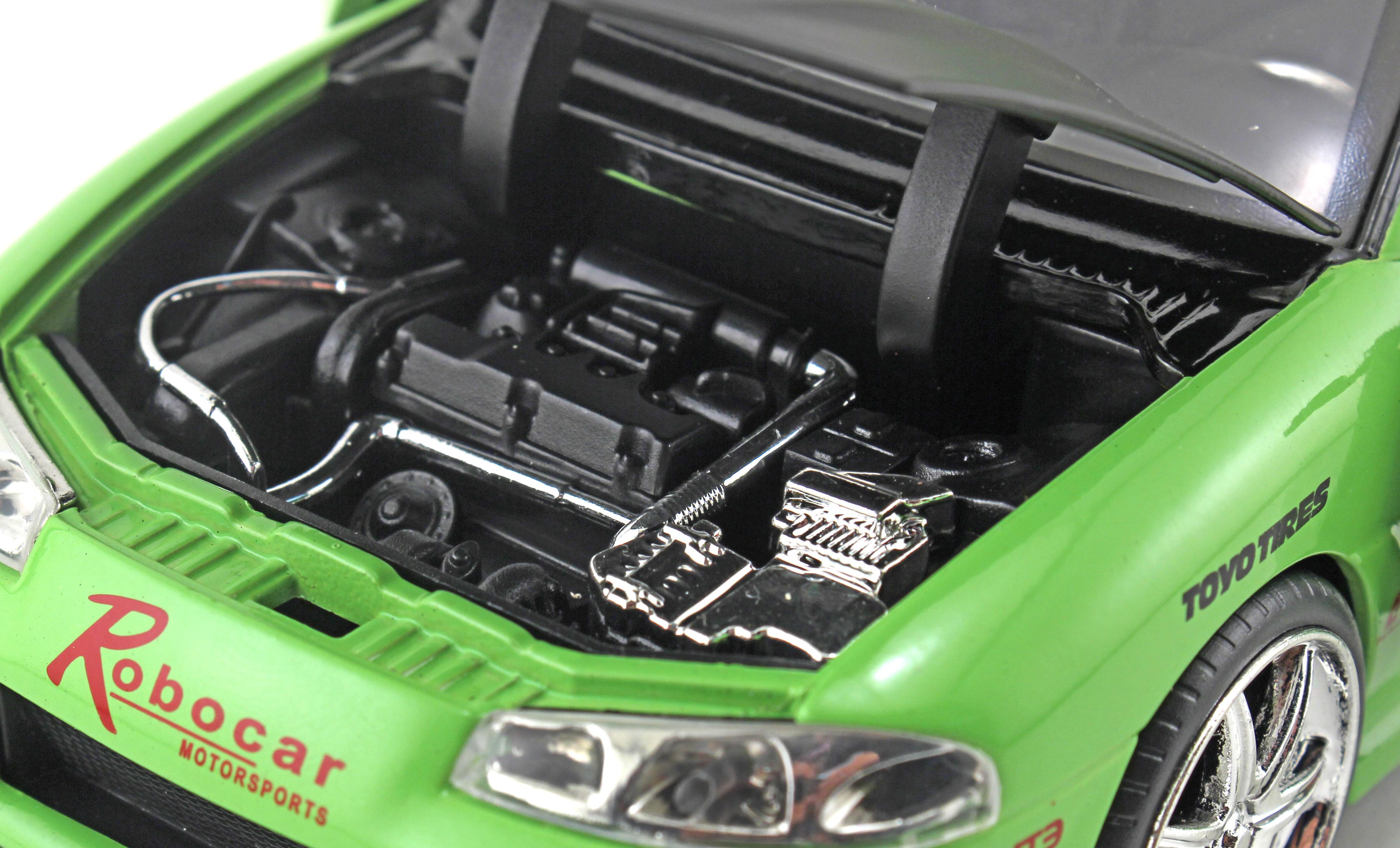 JADA 1:24 Fast Furious 8 Mitsubishi Eclipse Metal Diecast Model Car Toy Green