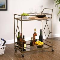 Better Homes & Gardens Nicola Bar Cart, Golden Bronze