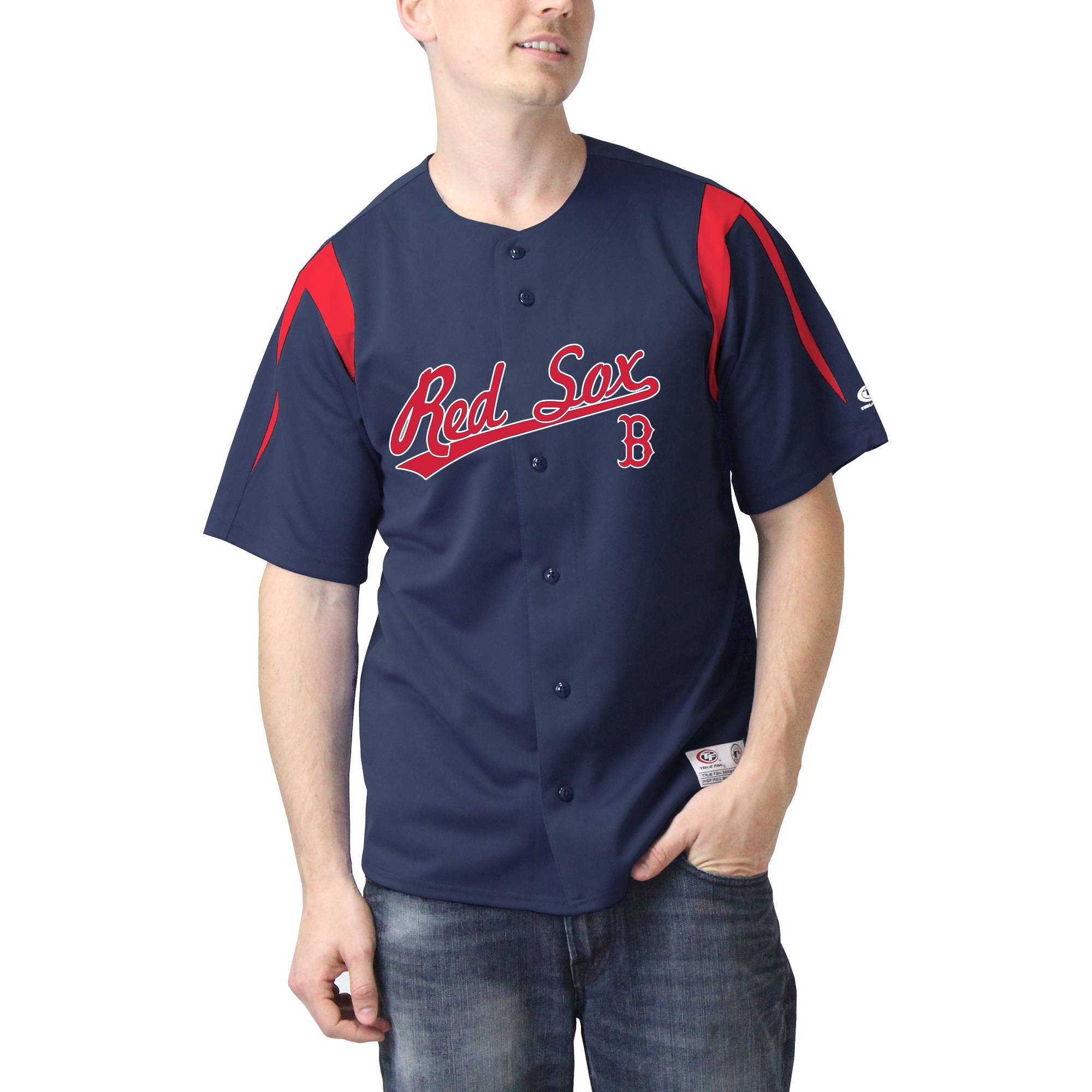 MLB Boston Red Sox Big Men's Color Block Jersey
