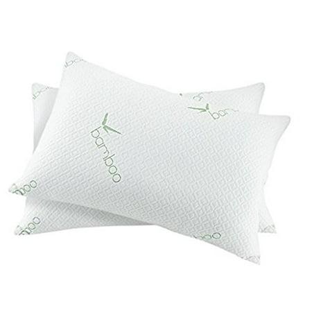 Hypoallergenic Bamboo Memory Foam Bed Pillow - Standard/Queen Foam Bed Pillow