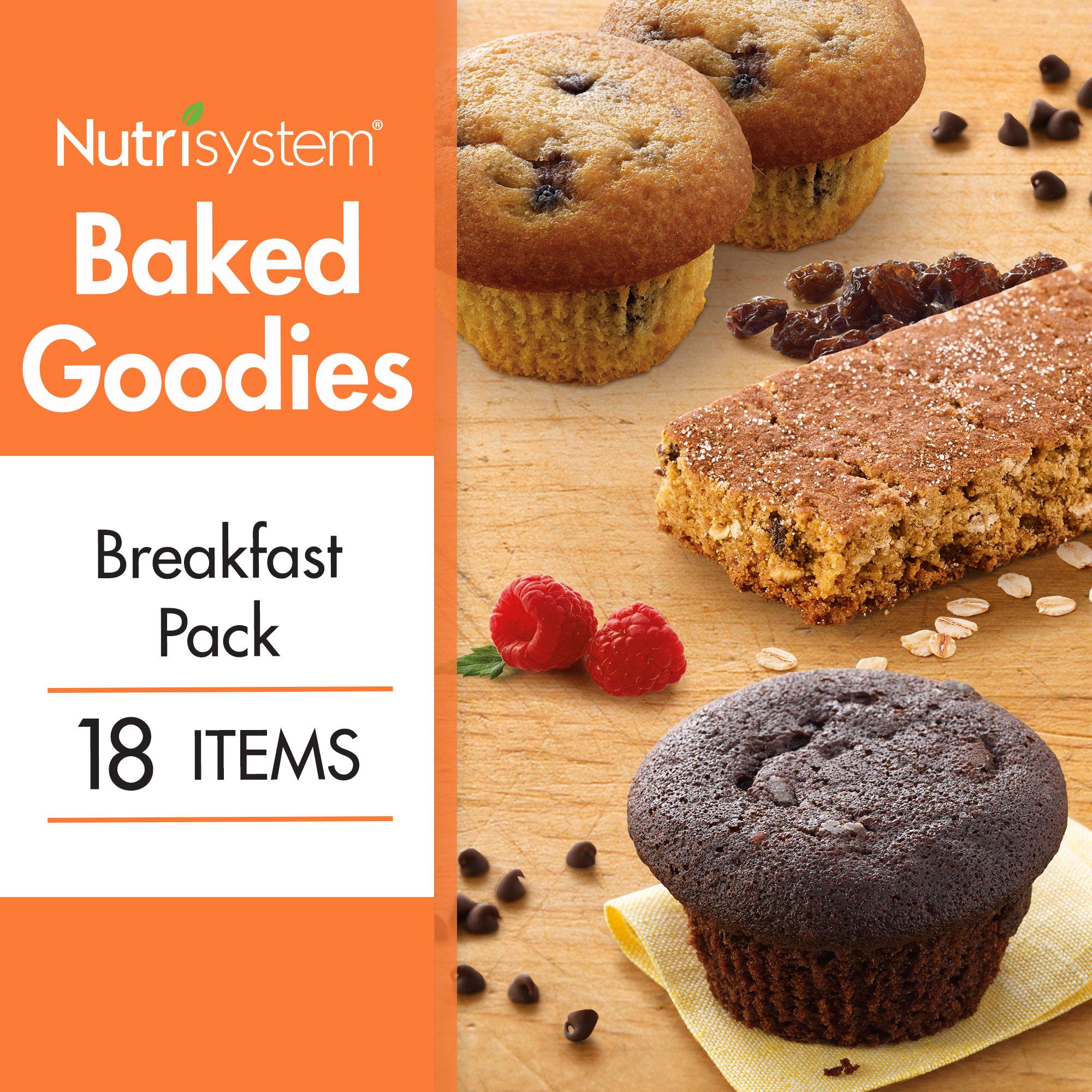 Nutrisystem Baked Goodies Breakfast Pack, 18 Ct