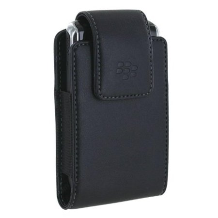 Vertical Leather Pouch Case OEM for Tour 9530 (Black), Protect your cell phone from scratches by keeping it safe on hand. By (Blackberry Pearl Leather Pouch)