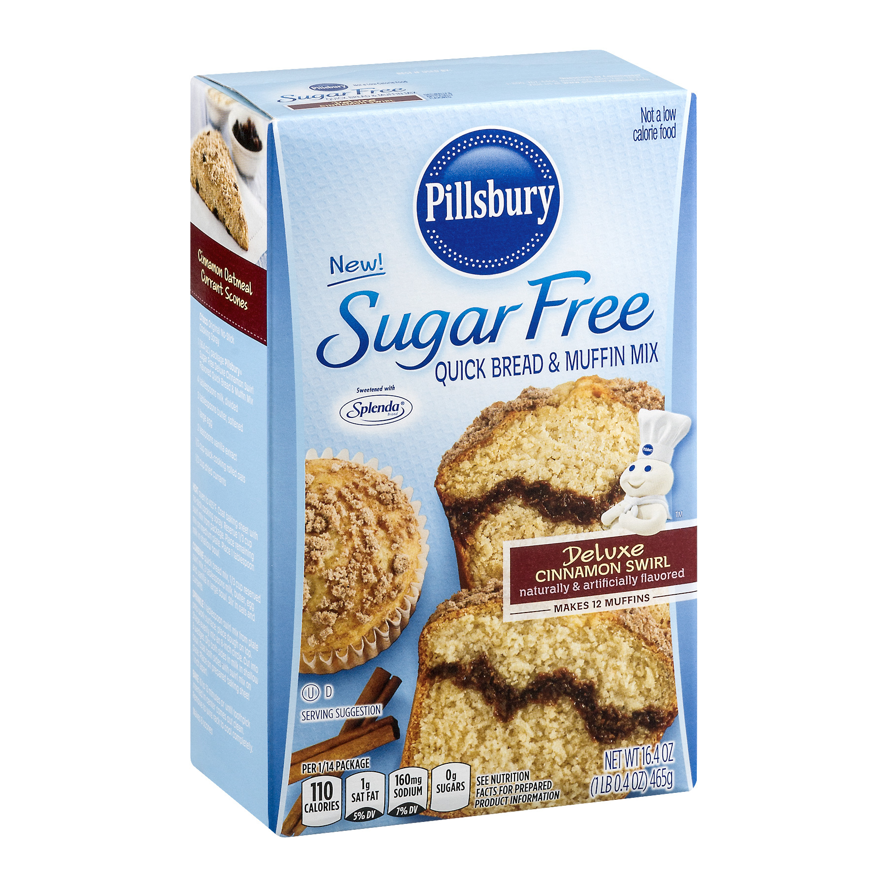 pillsbury sugar free quick bread muffin mix deluxe cinnamon swirl