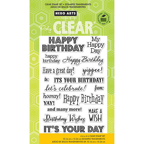 "Hero Arts Clear Stamps, 4"" x 6"""
