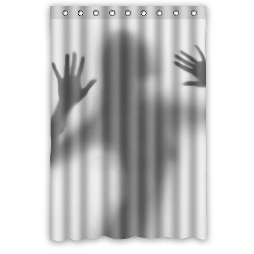 Naked Girl Shadow Waterproof Fabric Shower Curtain Set Bathroom Free Hooks