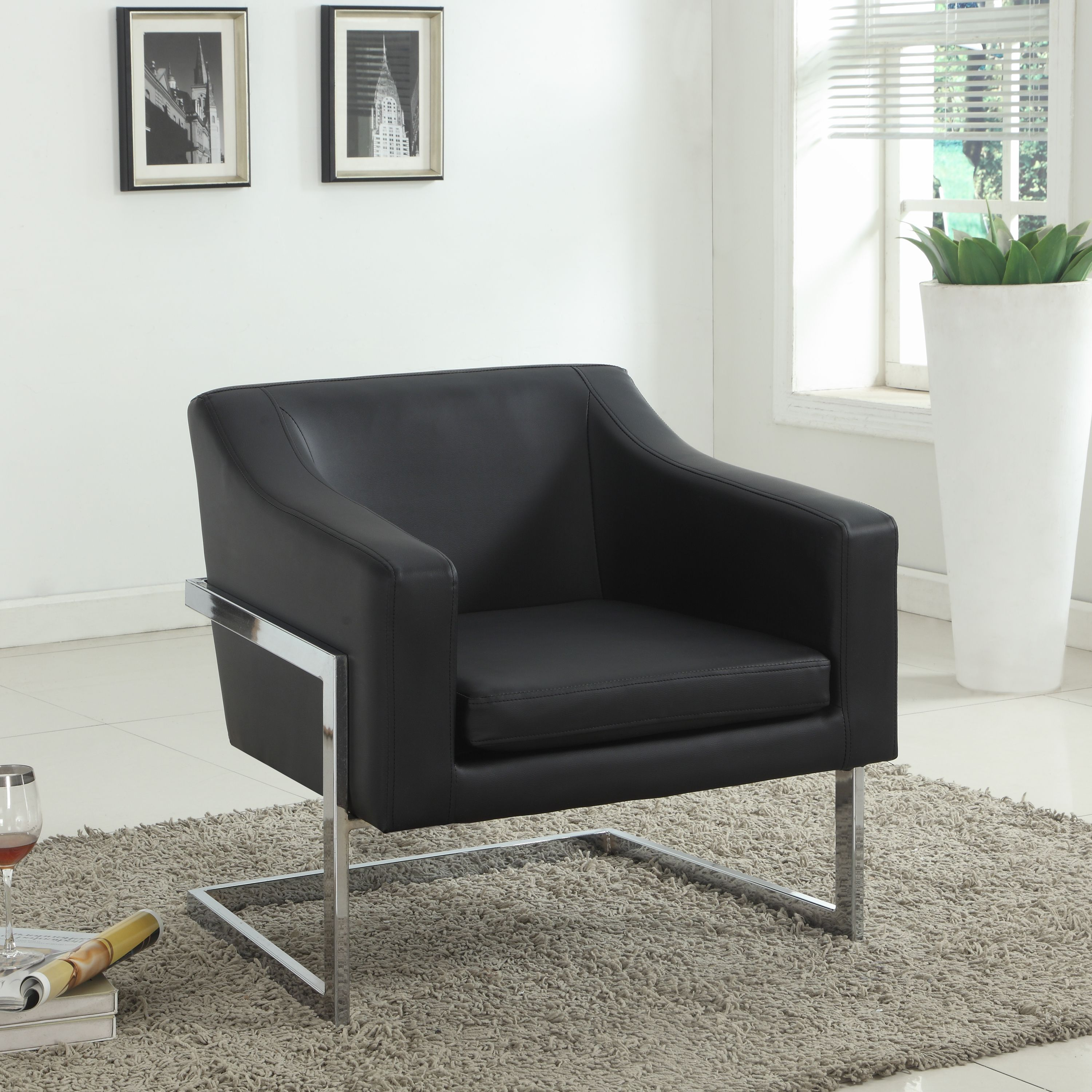 Best Master Furniture's Modern Club Chair, Multiple Colors Available by Best Master Furniture