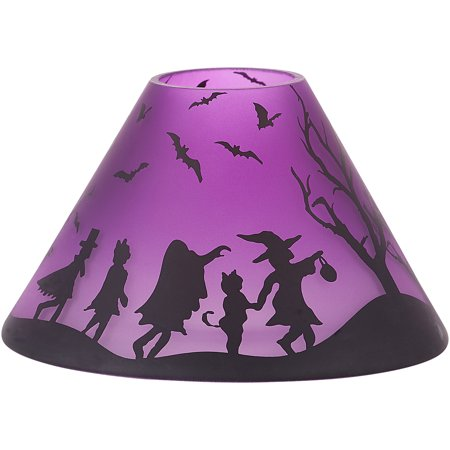 Pavilion - Purple Halloween Themed Large Glass Jar Candle Shade - Halloween Candles Costco