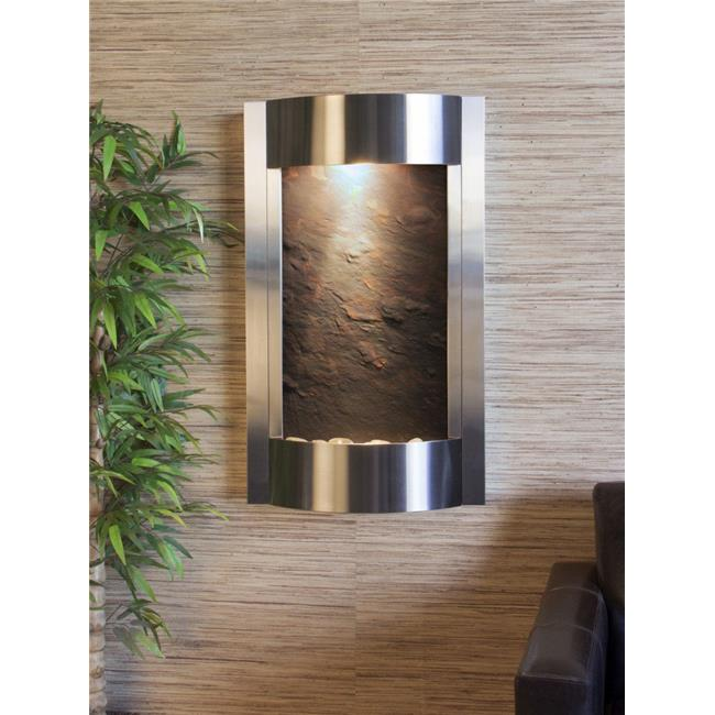 Adagio SWA2014 Serene Waters Wall Fountain - Stainless Steel-Multi-Color-Featherstone