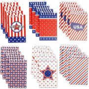 """24 Pack Spiral Memo Books Bulk, Top-Opening Lined Small Notepad, 2.75"""" x 4.4"""", American Patriotic 4th of July Party Favors"""