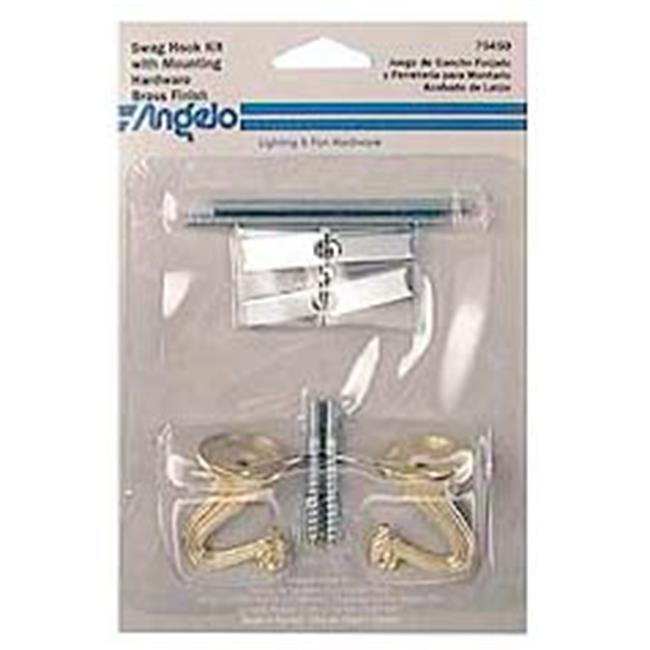 Westinghouse Lighting 7045000 Brass Swag Hooks Kit