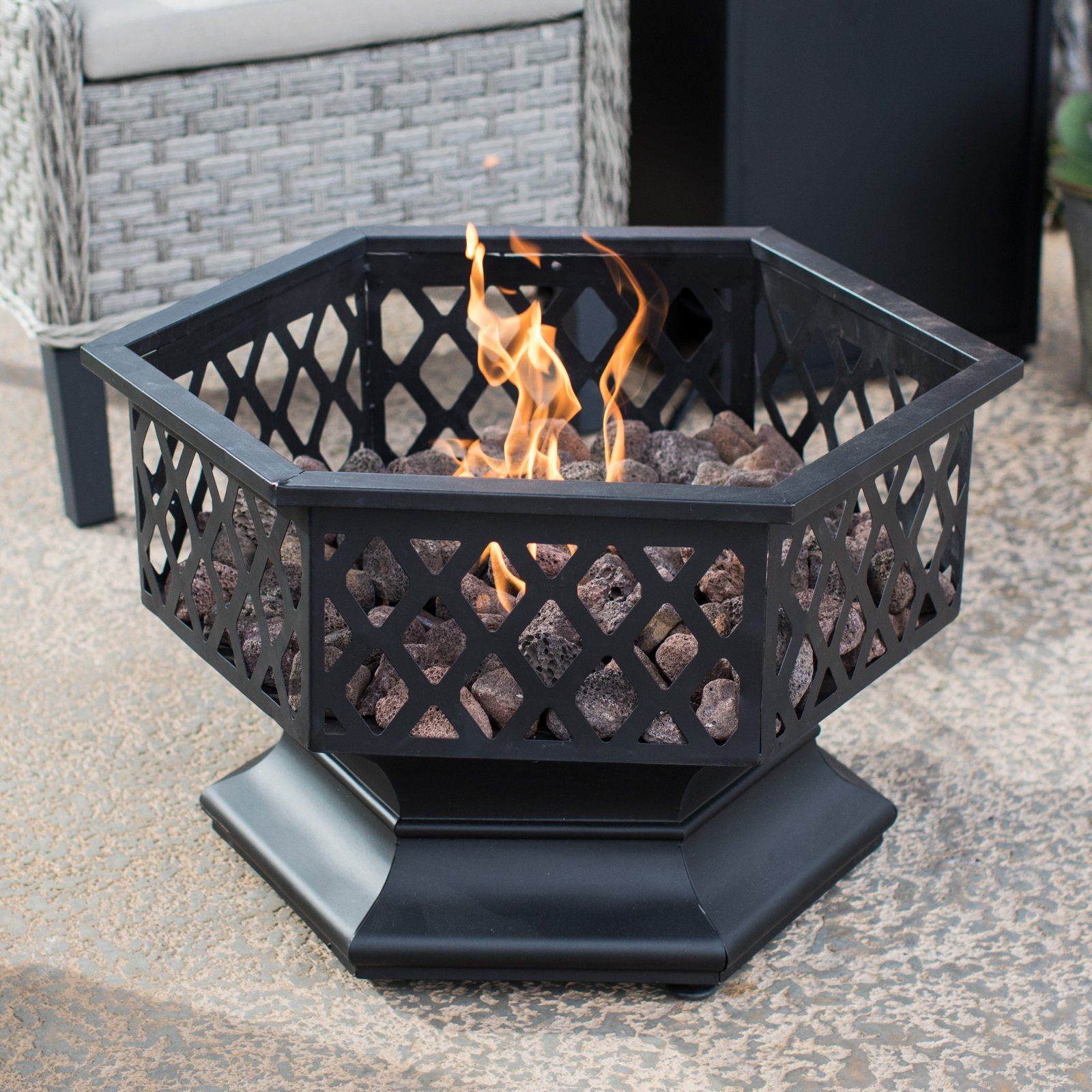 Endless Summer Hexagon Liquid Propane Outdoor Fireplace by Blue Rhino Global Sourcing Inc