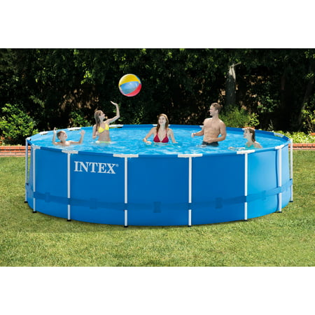 Intex 15 39 X 48 Metal Frame Above Ground Pool With Filter Pump