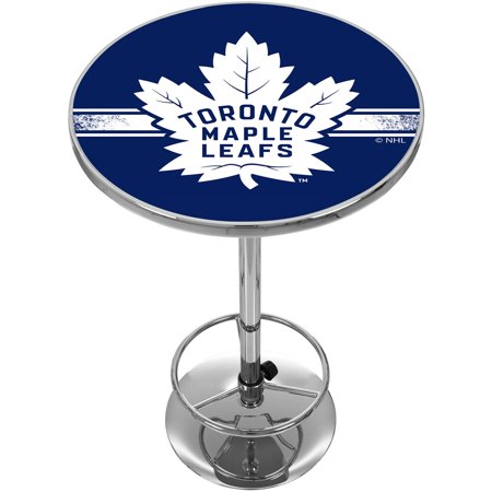 NHL Chrome Pub Table, Toronto Maple Leafs by
