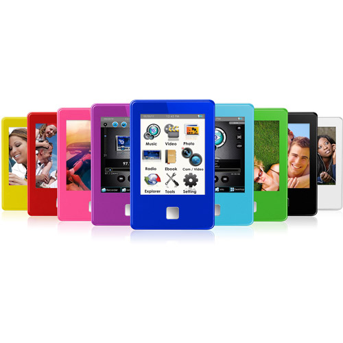 "Ematic 4GB MP3 Video Player w/ built-in 3"" Touch Screen, 5MP Digital Video Camera, Radio, eBook Reader"