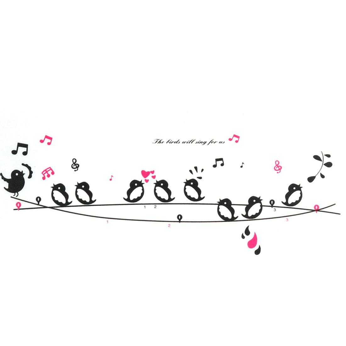 Chambre 9 chant oiseaux surfil autocollant impression Décor mural Art Mural - image 3 de 3
