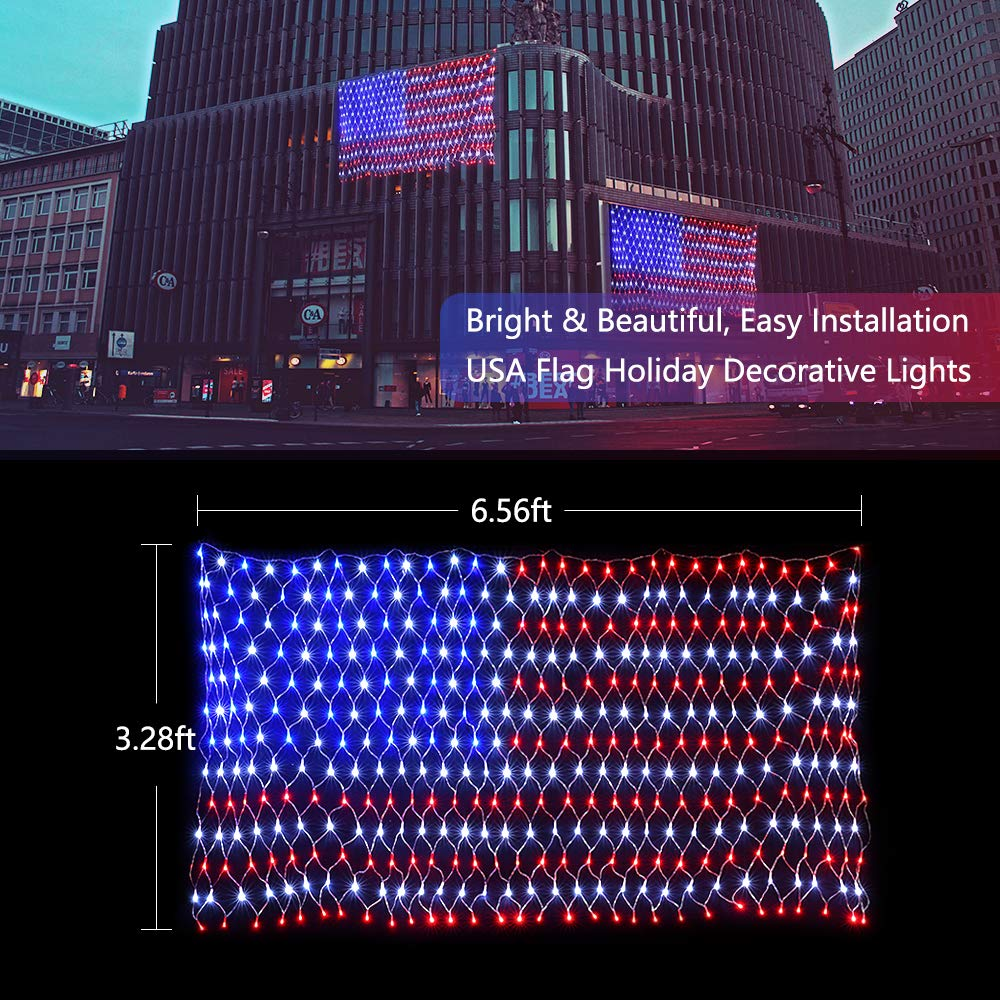 4Th de jardin July drapeau double face Premium Tissu Independence Day Memorial Ou