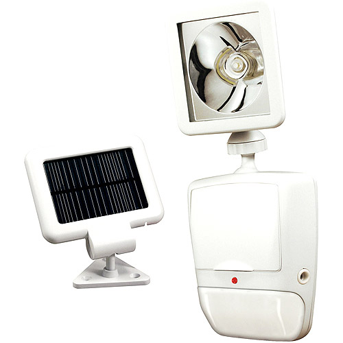 Heath Zenith 180 Degree Solar Powered Motion Security Light, White