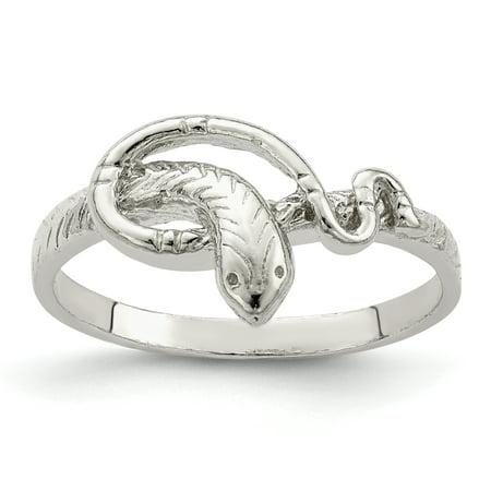 Designer Snake Ring (925 Sterling Silver Snake Band Ring Size 7.00 Animal Gifts For Women For)