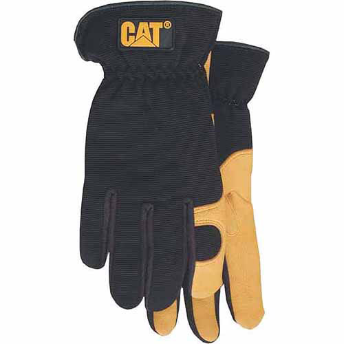 Cat Gloves Rainwear Boss MFG CAT012205M Medium Premium Leather Gloves with Gel Pad