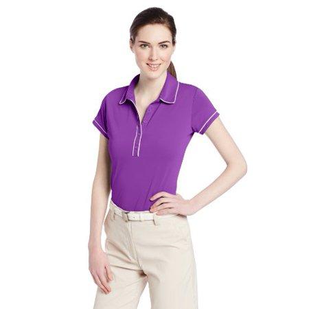 adidas Golf Women's Puremotion Piped Polo Shirt, Vivid Purple/White, X-Small Adidas Womens Sports Bands