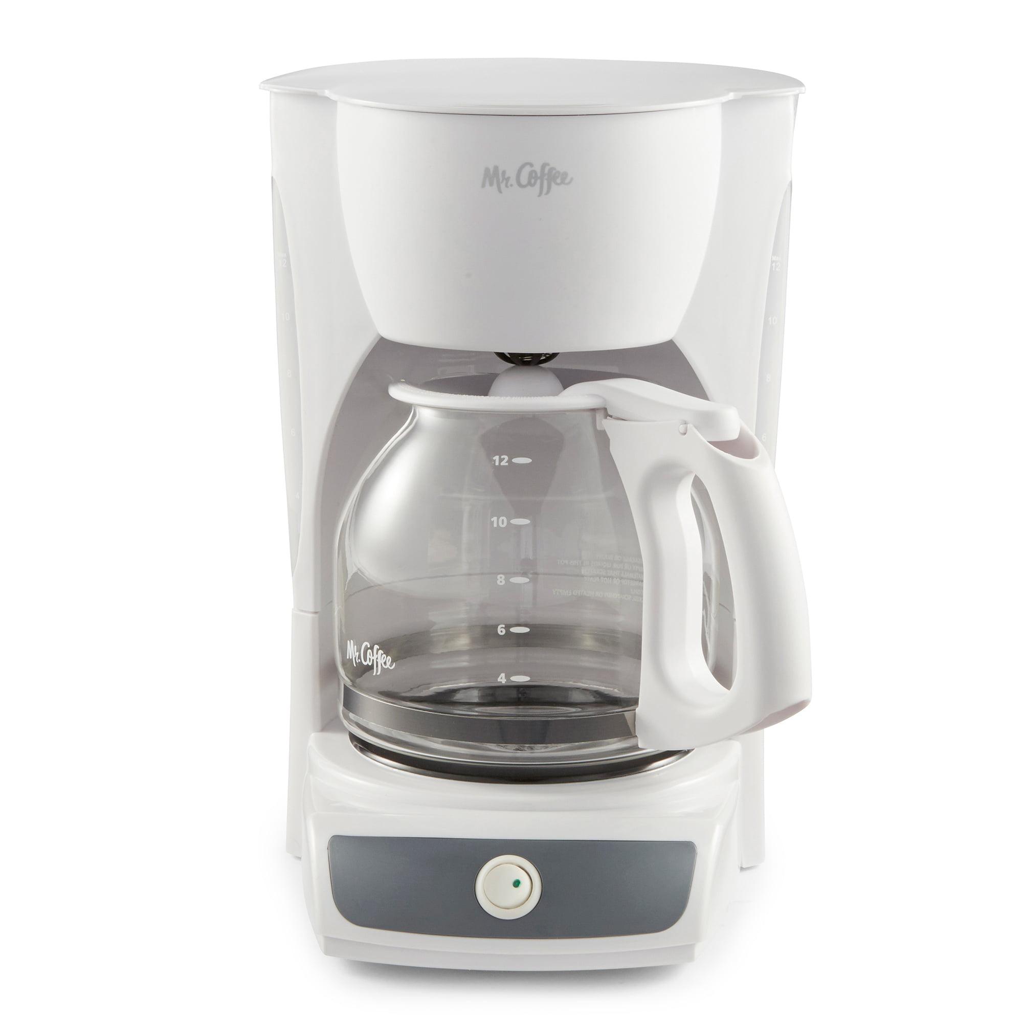 Mr. Coffee 12-Cup Switch Coffee Maker, White (CG12) - Walmart.com