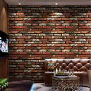 """Kitchen Backsplash Peel and Stick Wallpaper 393""""x17"""" 3D Brick Stone Self Adhesive Wallpaper for Living Room Wall Paper PVC Waterproof Wallpaper for Bedroom Wall Decor Wall Covering"""