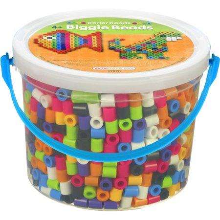 Perler Biggie Beads Bucket 1200 Assorted Pieces, 1 Each - Halloween Perler Beads