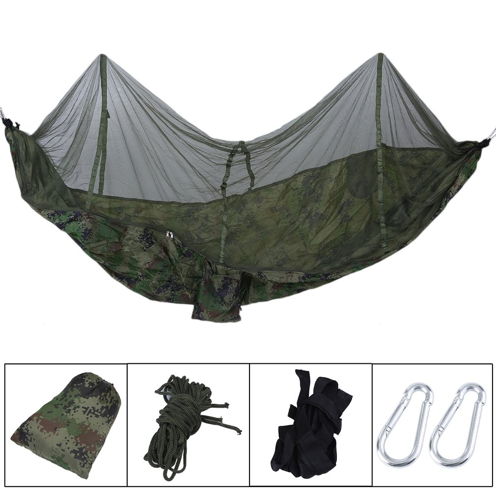 260x130cm Outdoor Camping Sleeping Hammock Hanging Bed Tent With Mosquito Net