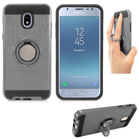 best website 2f752 4b30e Phone Case for Samsung Galaxy J3 orbit; J3 3rd Gen; Express Prime 3; J3  (2018); J3 Achieve; J3 Star; J3 Top Textured Dual-Layered Cover Ring-Stand  ...