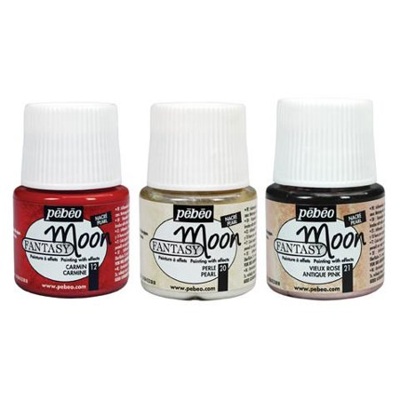 pebeo fantasy moon craft paint metal blue