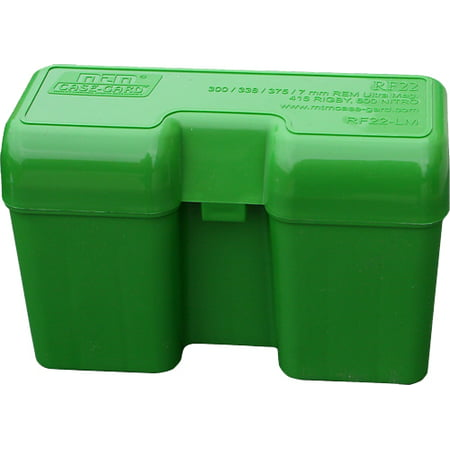 MTM RF-22 RIFLE AMMO BOX FLIP-TOP 22RD ULTRA MAG POLY