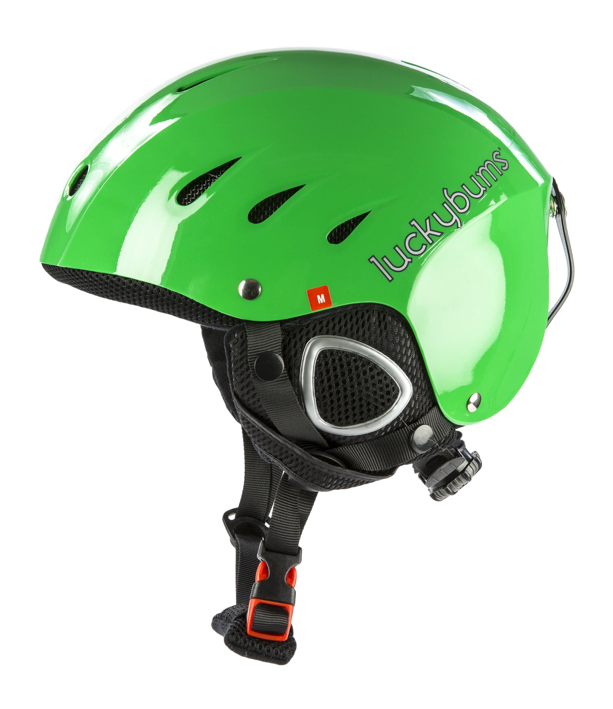 Snow Sports Helmet, Green, Medium (56-58 cm) by Lucky Bums