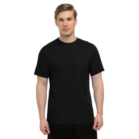 - Tri-Mountain Performance Bulk Vital Pocket Crew K020PCN Crewneck Shirt, 2X-Large, Black