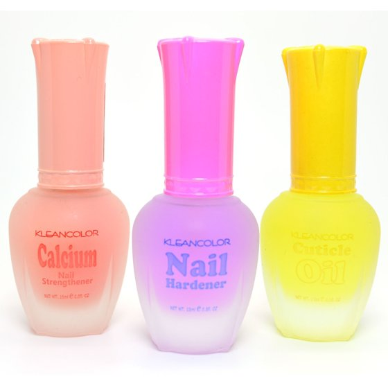 3 Kleancolor Nail Polish Calcium Hardener Cuticle Oil Treatment ...