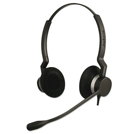 Binaural Overhead Cord - Jabra QD Binaural Over-the-Head Corded Headset