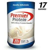 Premier Protein 100% Whey Protein Powder, Vanilla Milkshake, 30g Protein, 1.75lb, 28oz