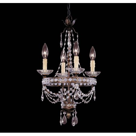 Mini Chandeliers 4 Light With New Tortoise Shell Silver Candelabra 14 inch 240W
