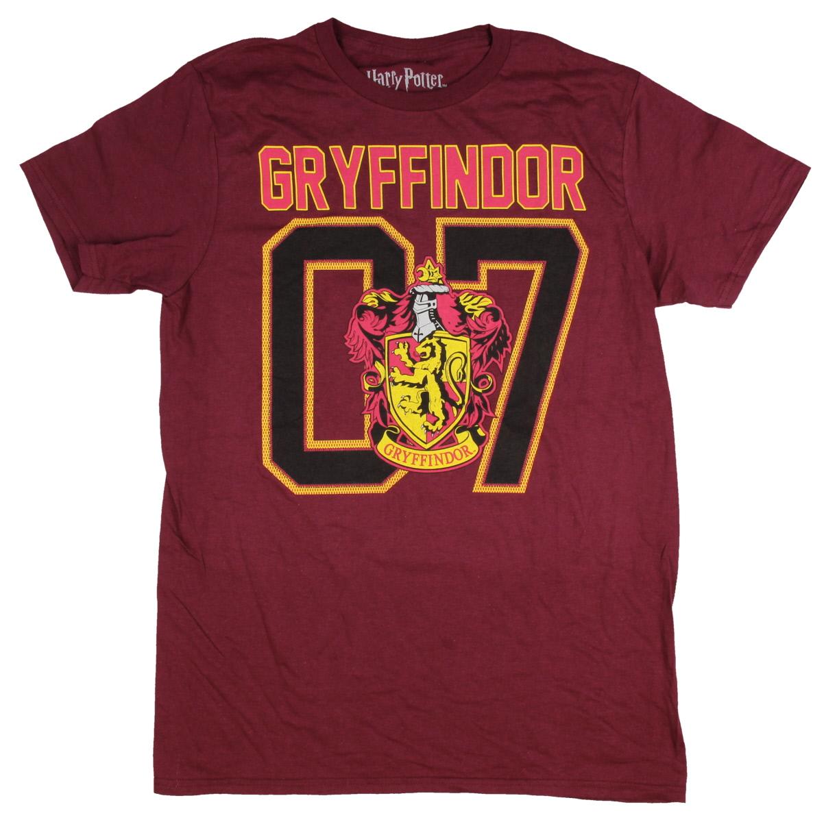 Harry Potter Gryffindor Shirt Men's House Lion Crest 07 Quidditch T-shirt